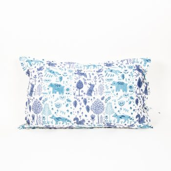Blue folk land pillowcase | TradeAid