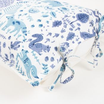 Blue folk land pillowcase | Gallery 1 | TradeAid