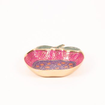 Apple brass bowl with meena work | Gallery 1 | TradeAid