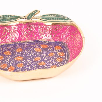 Apple brass bowl with meena work | Gallery 2 | TradeAid