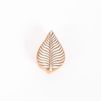 Leaf printing block | TradeAid