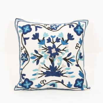 Blue floral cushion cover | Gallery 1 | TradeAid