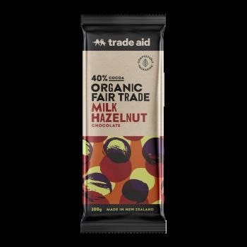 Organic 40% milk hazelnut chocolate – 100g | TradeAid