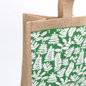 Green fern lined jute bag | Gallery 1 | TradeAid