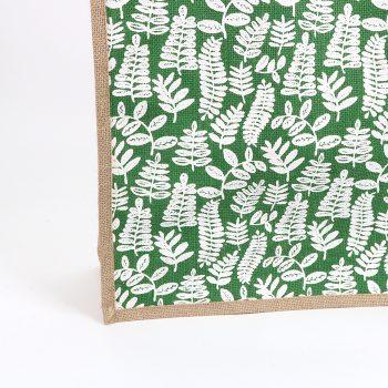 Green fern lined jute bag | Gallery 2 | TradeAid