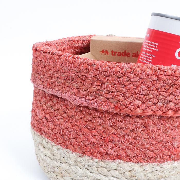 Coral jute basket | Gallery 2 | TradeAid