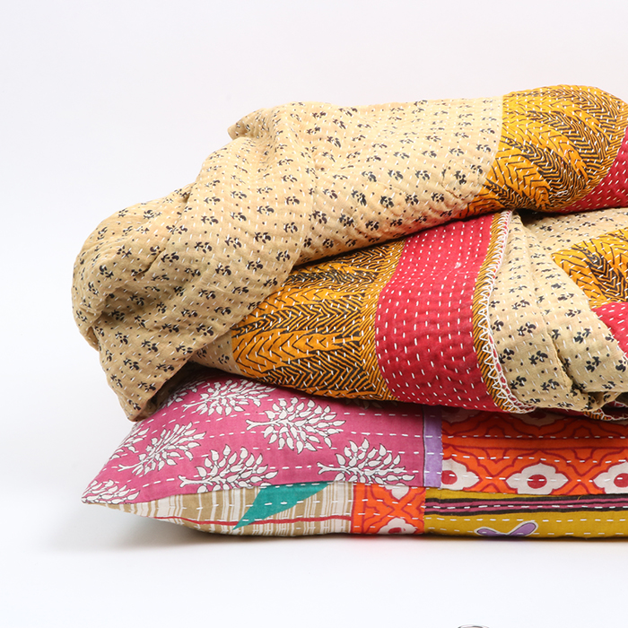Quilted kantha 7 layer throw | Gallery 1 | TradeAid
