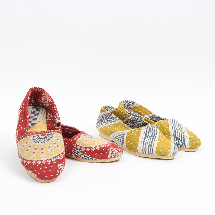 Recycled sari slippers (m) | TradeAid