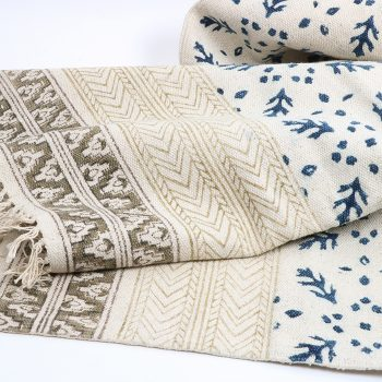 Blue kalamkari rug | TradeAid