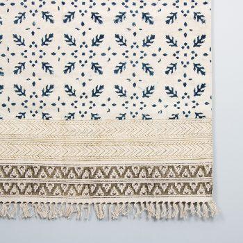 Blue kalamkari rug | Gallery 2 | TradeAid
