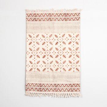 Coral kalamkari rug | Gallery 1 | TradeAid