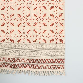 Coral kalamkari rug | Gallery 2 | TradeAid