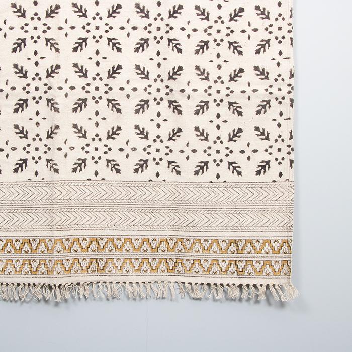 Black and mustard kalamkari rug | Gallery 2 | TradeAid