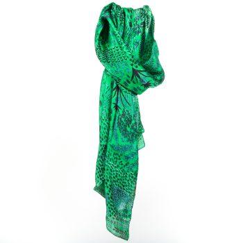 Green botanic scarf | TradeAid