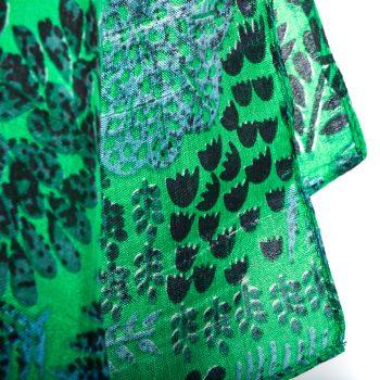 Green botanic scarf | Gallery 2 | TradeAid