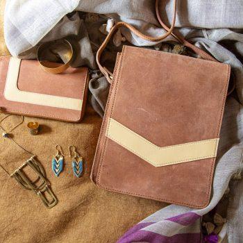 Tan postmaster satchel | Gallery 1 | TradeAid