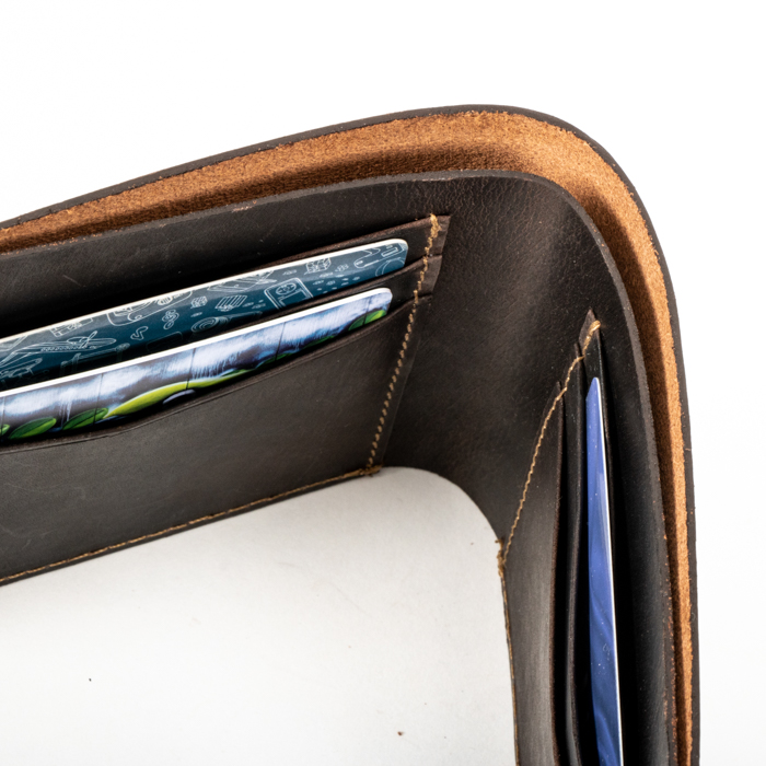 Brown leather wallet | Gallery 1 | TradeAid