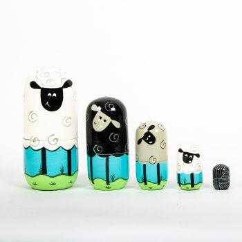 Sheep family nesting dolls | TradeAid