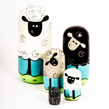 Sheep family nesting dolls | TradeAid