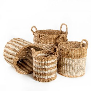 Hogla and jute baskets (set of four) | TradeAid