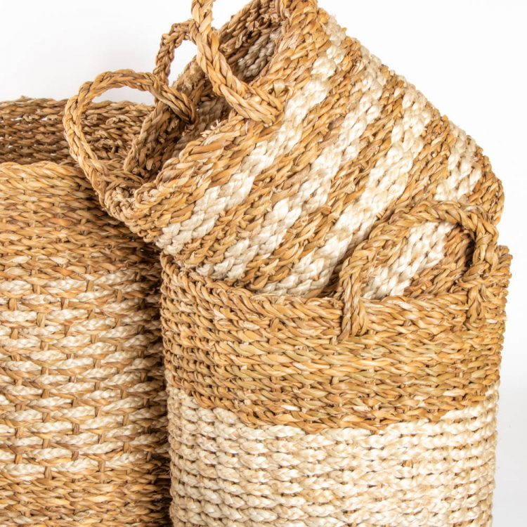 Hogla and jute baskets (set of four) | Gallery 1 | TradeAid