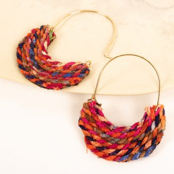 Recycled thread earring | TradeAid