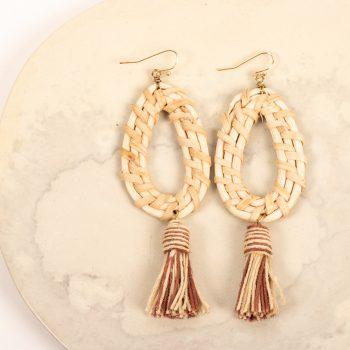 Jute tassel earring | TradeAid