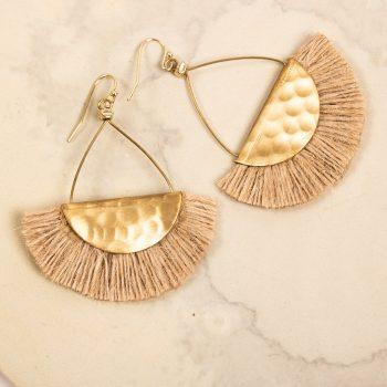 Metal jute thread earring | TradeAid