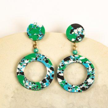 Green clay earrings | TradeAid