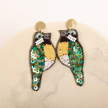 Sequin bird earrings | TradeAid