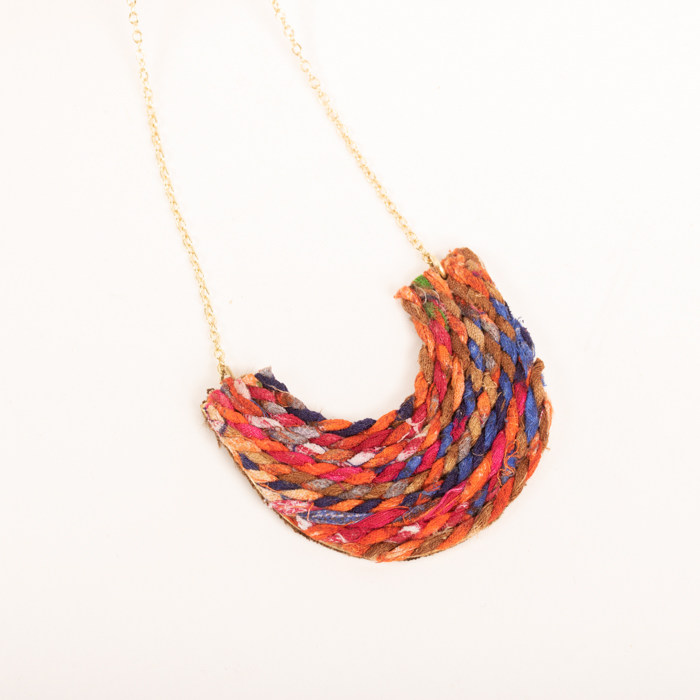 Recycled Thread Necklace Trade Aid
