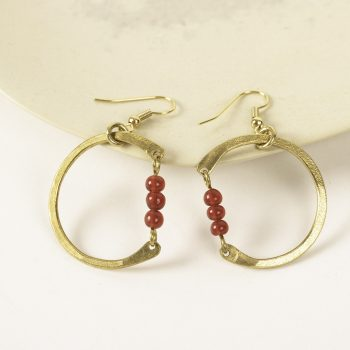 Beaded circle earrings | TradeAid