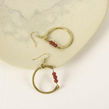 Beaded circle earrings | Gallery 1 | TradeAid