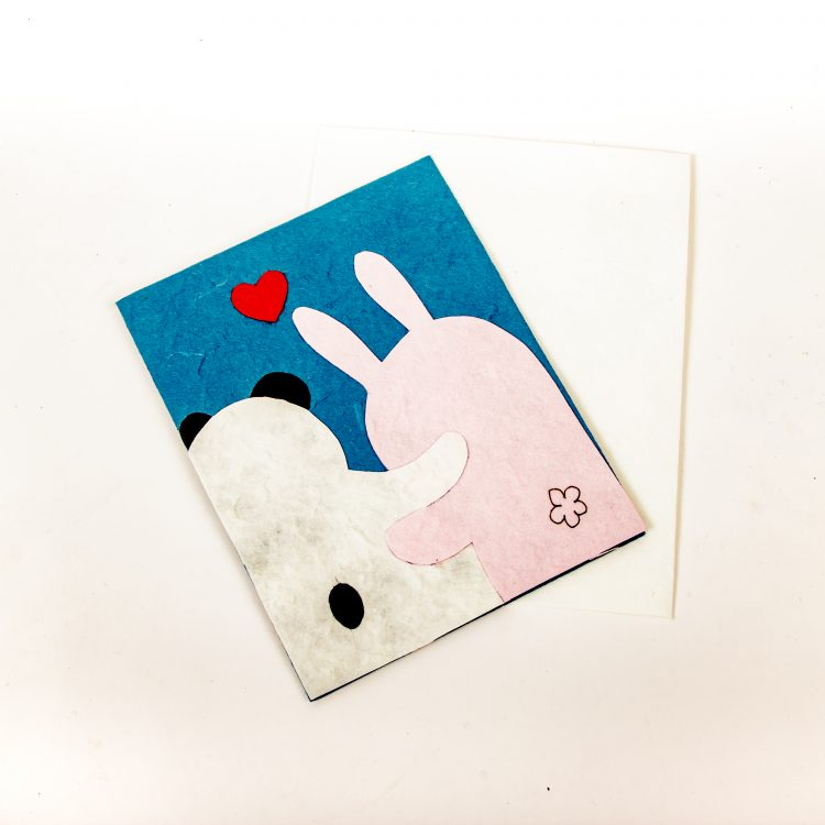 Panda and rabbit card   Gallery 2   TradeAid