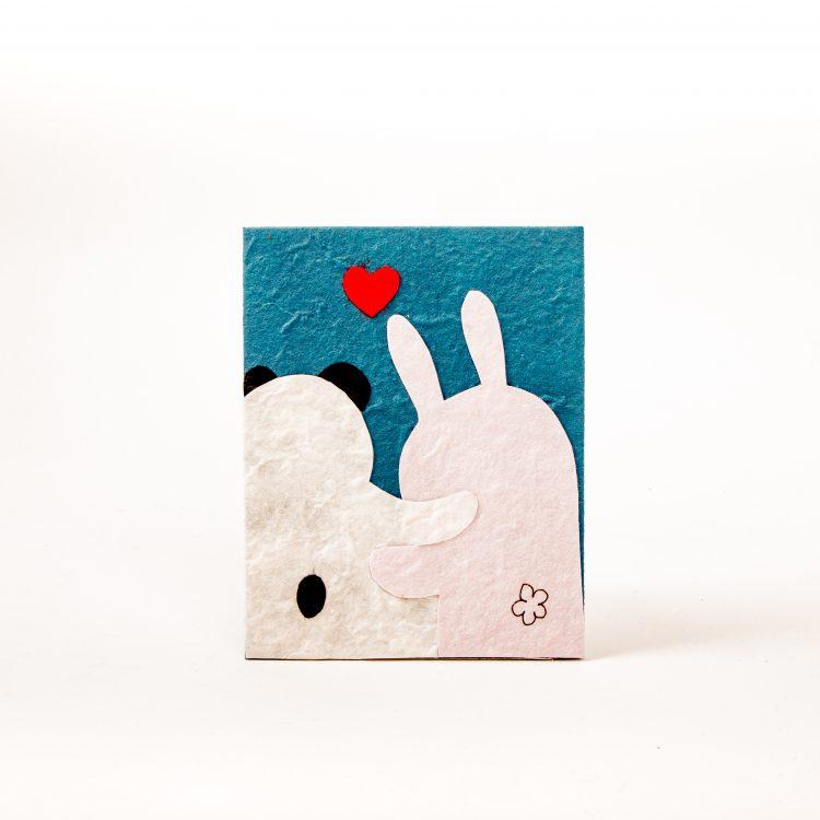 Panda and rabbit card   TradeAid