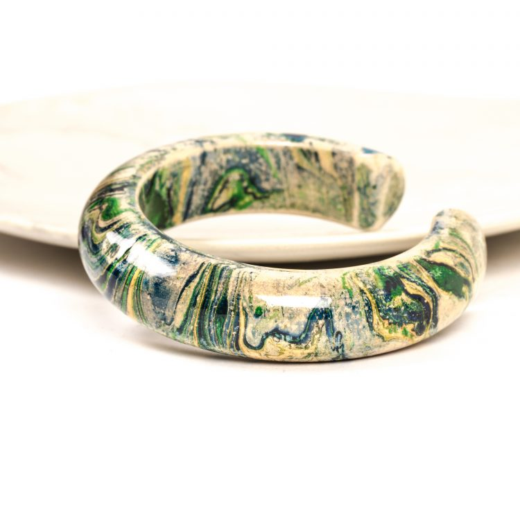 Marbled wooden bangle | TradeAid