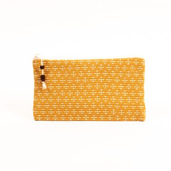 Mustard and white purse | TradeAid