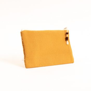 Mustard and white purse   Gallery 1   TradeAid