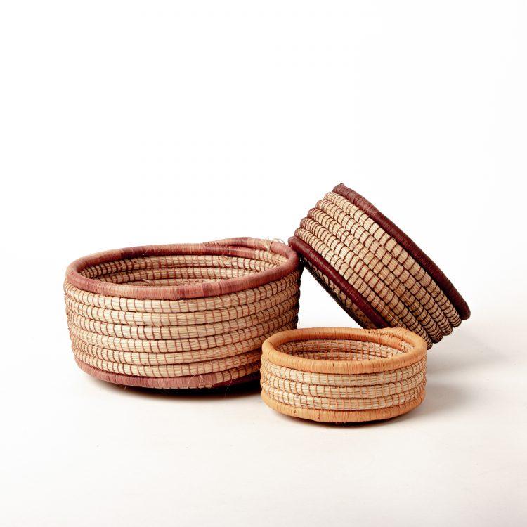 Natural coloured nesting baskets (set of three) | TradeAid