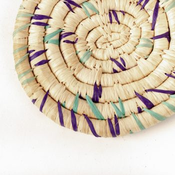 Purple and aqua coaster | Gallery 1 | TradeAid
