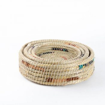 Recycled fabric kaisa tray baskets (set of four) | Gallery 1 | TradeAid