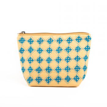 Mustard floral utility pouch | TradeAid