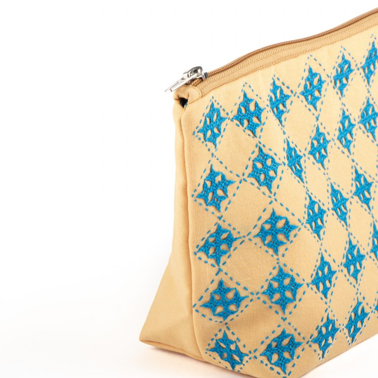 Mustard floral utility pouch | Gallery 1 | TradeAid