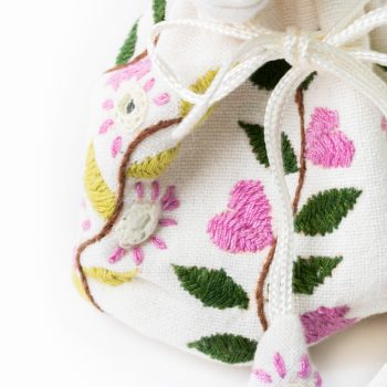 Pink and green jewellery pouch   Gallery 2   TradeAid