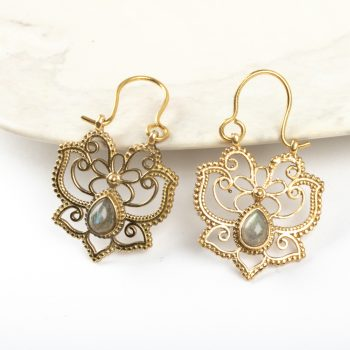 Lotus butterfly earrings | TradeAid