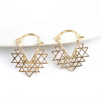 Triangle jali earring | TradeAid