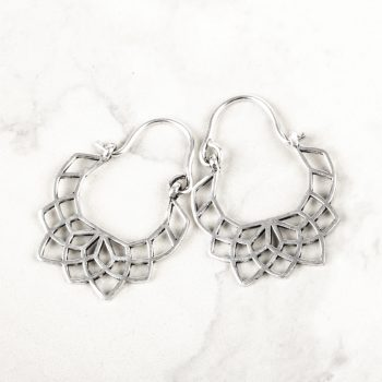 Lotus jali earring | TradeAid