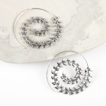 Spiral leaf earring | TradeAid