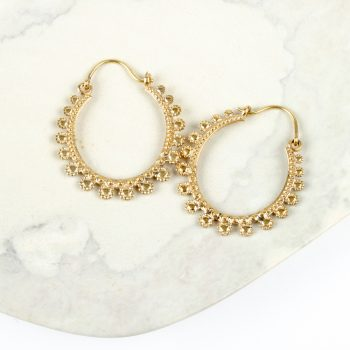 Flower hoop earring | TradeAid
