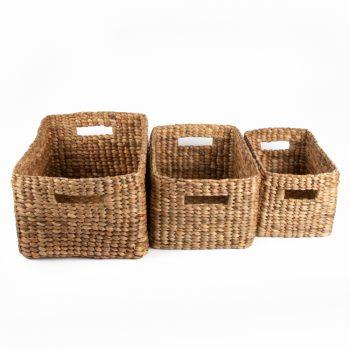 Rectangular water hyacinth baskets (set of three) | Gallery 1 | TradeAid